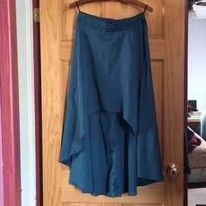 High-Low teal skirt